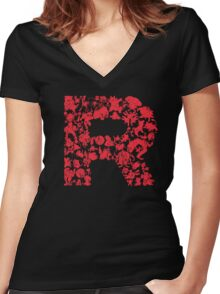 Rocketmon (Lunarscape) Women's Fitted V-Neck T-Shirt