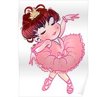 Pretty Pink Ballerina Poster
