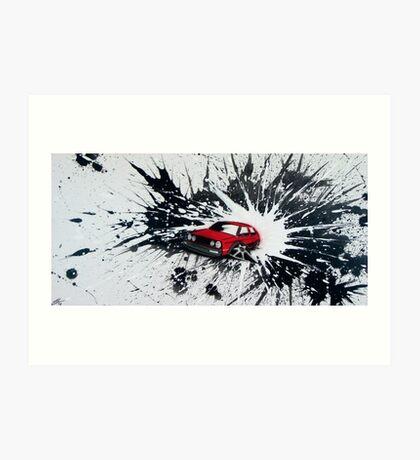 Dub Splat 02 Painting Art Print