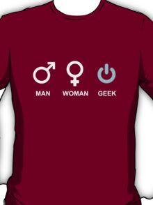 Man Woman Geek Computer Symbol T-Shirt