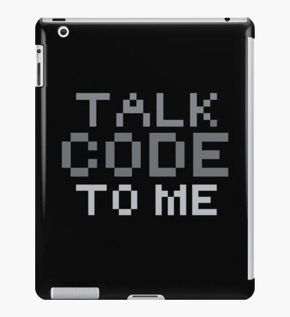 Talk code to me iPad Case/Skin