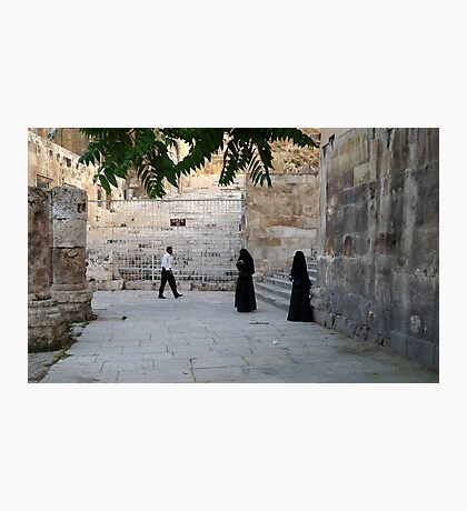 Visitors to the Capital City of Jordan Photographic Print