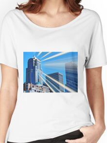Seattle Skyscrapers Art Deco Women's Relaxed Fit T-Shirt