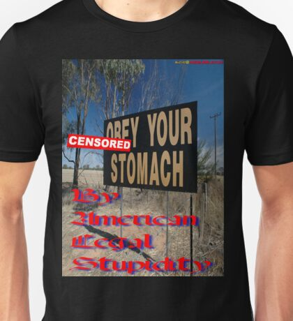 """""""""""CENSORED""""Your Stomach"""", Olympic Highway, Australia Unisex T-Shirt"""