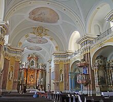 Inside the Franciscan Church, Budapest by Graeme  Hyde