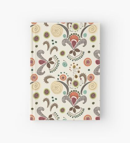 Wired Flower Pattern Hardcover Journal