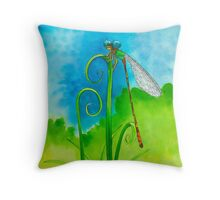 Little Dragonfly Dude  Throw Pillow