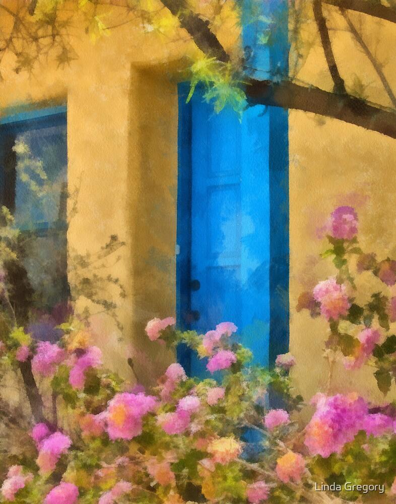 Blue Door in the Barrio by Linda Gregory