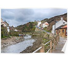 Staithes From Below, Yorkshire Poster