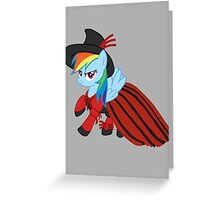 Lady Rainbow Dash Licorice Greeting Card