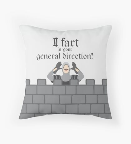 Monty Python French Taunting Guard Throw Pillow