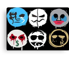 Hollywood Mask Canvas Print