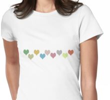 Checkered Hearts T-Shirt Womens Fitted T-Shirt
