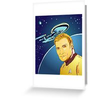 Captain James T Kirk Greeting Card