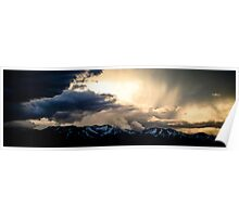 Wasatch Storm Clouds Poster
