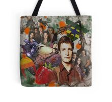Firefly Collage Tote Bag