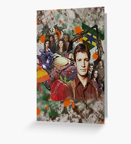 Firefly Collage Greeting Card