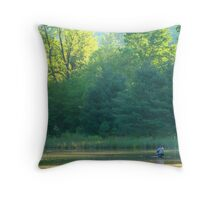 Up to his waist Throw Pillow
