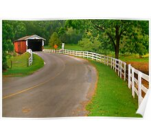 Summer at Jackson's Saw Mill Covered Bridge Poster