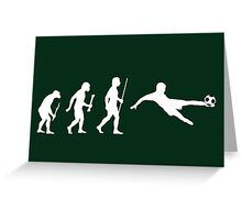 Evolution of Man and Soccer Greeting Card