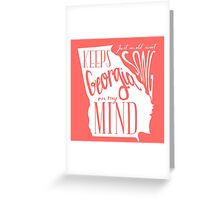 Georgia Map Typography Greeting Card