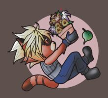 FFVII/GotG Crossover - Rocket & Groot as Cloud and Aerith T-Shirt