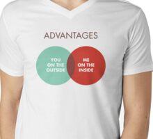 Advantages to both Mens V-Neck T-Shirt