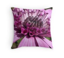 Macro purple flower Throw Pillow