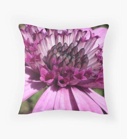 Macro purple flower Throw Pillow