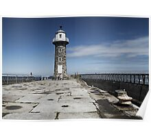 End of Whitby pier Poster