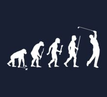 Funny Golf Evolution T Shirt by movieshirtguy