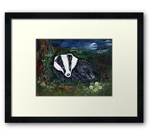 The Badger Framed Print
