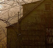Lonely Home Sits Empty - Predawn Western Maine by mooselandtours