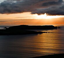 Sunset over St Ninians Isle by Shaun Whiteman