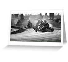 Busselton Dirt Kart Fun Greeting Card