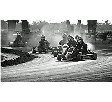 Busselton Dirt Kart Fun Photographic Print