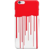 Blood Drips (white) iPhone Case/Skin