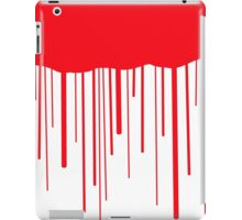 Blood Drips (white) iPad Case/Skin