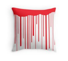 Blood Drips (white) Throw Pillow