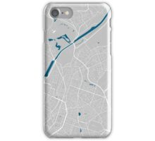 Brussels city map grey colour iPhone Case/Skin