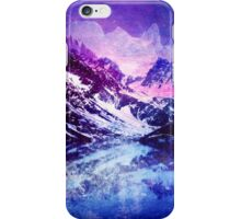 Abstract Snowy Mountains iPhone Case/Skin