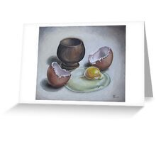 Cracked egg study Greeting Card