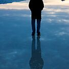 I walk upon water by Sam Scholes