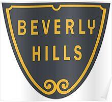 Beverly Hills Street Sign Print  Poster