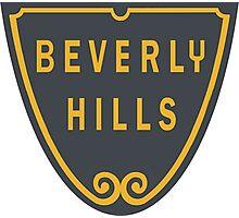 Beverly Hills Street Sign Print  Photographic Print