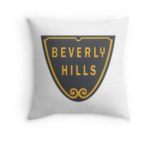 Beverly Hills Street Sign Print  Throw Pillow