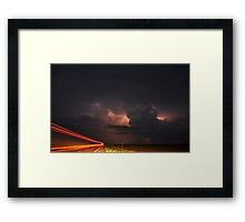 Light Speed to the Hail Core! Framed Print
