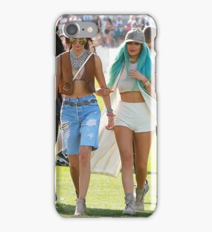 Kylie and Kendall Jenner at Coachella 2015 iPhone Case/Skin
