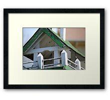 Aged Birdhouse Framed Print