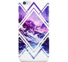 Geometric Snowy Mountain Abstract Pattern iPhone Case/Skin
